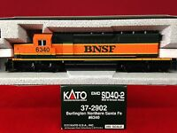 37-2902 Kato Ho Scale Sd40-2 Snoot Nose Bnsf Engine