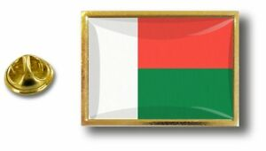Anstecknadel Pin Abzeichen Metall Mit Zange Papillon Flagge Madagaskar Malagasy