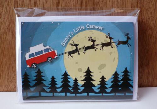 Vw Campervan Inspiré Cartes de Noël T2 Bay 5 Pack