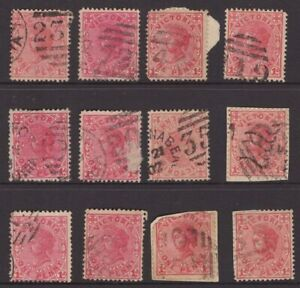 Victoria-numeral-cancel-selection-on-QV-issues-x-12