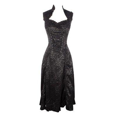 Brand New GOTHIC VELVET SKULL DRESS  by JAWBREAKER  Size XL  Gothic Goth Vampire