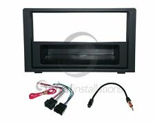 Radio Stereo Dash Kit Combo RUBBERIZED BLACK SD + Wire Harness + Antenna SA9