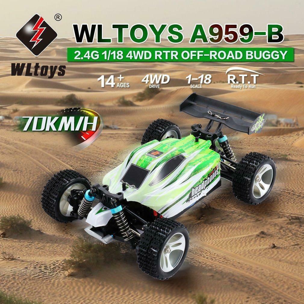 WLgiocattoli A959-B 2.4G 1  18 Scale 4WD 70KM h Off-strada Vehicle Remote Control auto giocattolo  vendendo bene in tutto il mondo