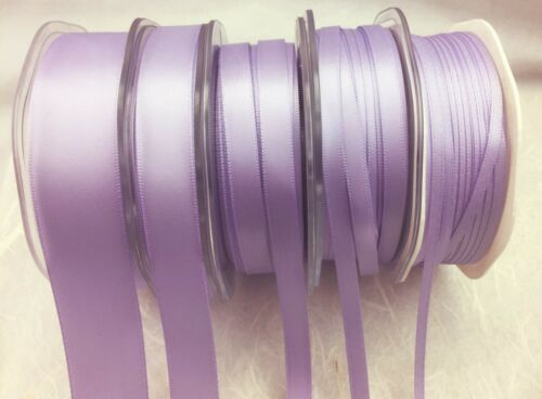 9mm Quality Double Sided Satin Ribbons LAVENDER  5 WIDTHS 3mm 15mm /& 25mm 6mm