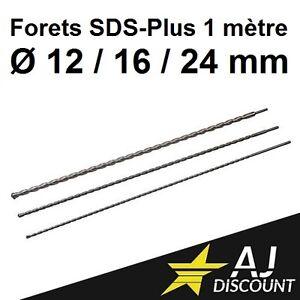 3x-Foret-Meche-Beton-SDS-Plus-12-16-et-24-x-1000-1-Metre-1m-Brique