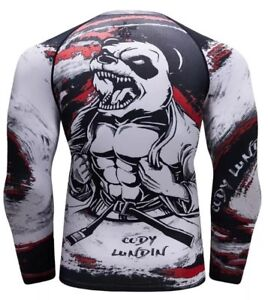 Details about MMA Panda Armour Cody Lundin Cycling Shirt Compression  Rashguard Grappling Tight