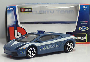 Bburago-30310-Lamborghini-GALLARDO-034-POLIZIA-034-METAL-Scala-1-43