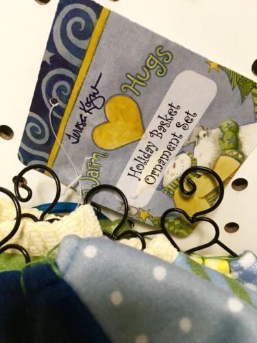 SALE 5 Piece Teresa Kogut Holiday Ornaments Basket GiftSet Peace Love Hope Faith
