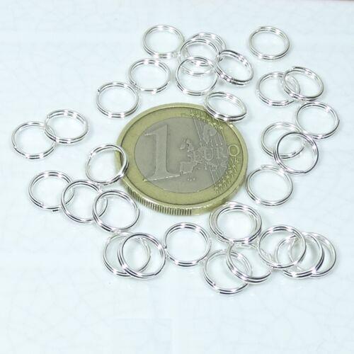 375 Anillas Dobles Plata 8mm T11A Double Jump Rings Beads Anneau Anelo Llavero