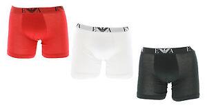 c8d7d55392a2 Emporio Armani Mens Pure Cotton 3-Pack Boxer Briefs - Red/White ...