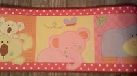 Cocalo Tropical Punch Jungle Koala Hippo Nursery Prepasted Wall Border Roll
