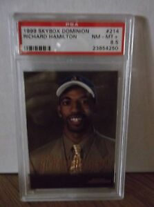 1999-Skybox-Dominion-214-RICHARD-HAMILTON-PSA-8-5-NM-MT
