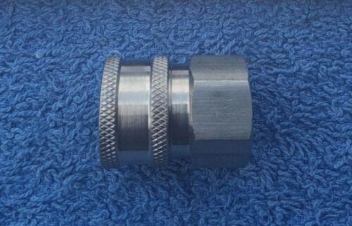Conector hembra de acero inoxidable de alta presión Midi acoplamiento de liberación rápida de 14.8 Mm x 3//8BSP