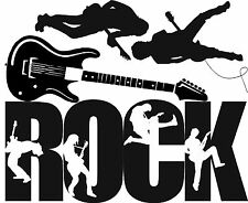 Vinyl wall art ROCK guitar