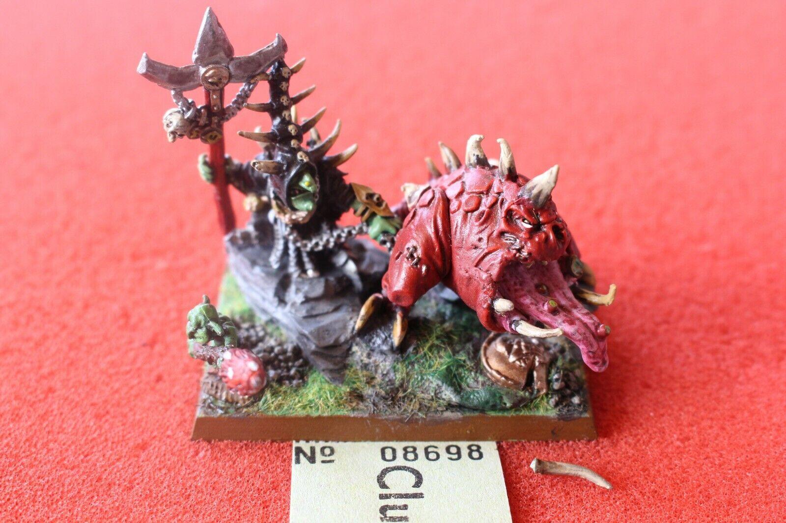 Games Workshop Warhammer Night Goblins Skarsnik and Gobbla Metal Loonboss Paint
