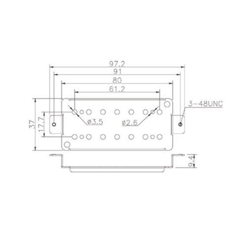 BPH7NS61.2 BasePlate for 7-String Humbucker Nickel Silver Raw 61.2mm