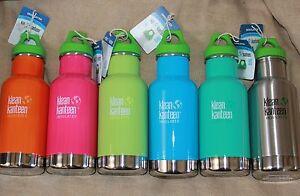 KLEAN-KANTEEN-Insulated-12oz-Standard-MOUTH-2-LIDS-Sport-Cap-lid-water-bottle