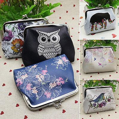 Fashion Owl Flower Wallet Card Holder Case Coin Purse Clutch Handbag Bag