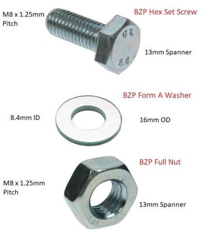 Hex Head Set Screws M8 M10 M12 BZP Bright Zinc Plated