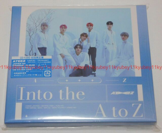 New ATEEZ Into the A to Z First Limited Edition CD DVD Card Japan COZP-1737