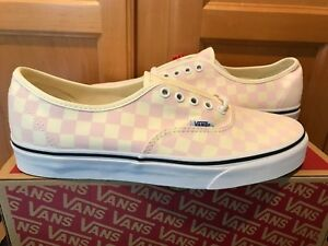 Details about NEW Vans Authentic Checkerboard Chalk Pink White Laces Size 10.5