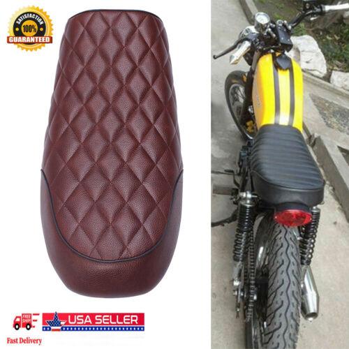 Universal Motorcycle Hump Saddle Cafe Racer Refit Vintage Seat Cushion USA AF4