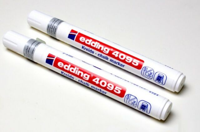 edding Kreidemarker 4095 Fenstermarker Kreidestift 2-3 mm Schwarz
