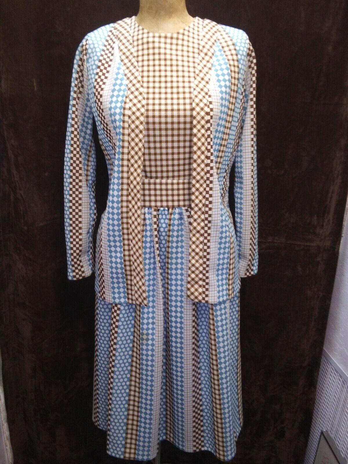 1970\u2019s Brown Mod Dress
