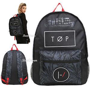 080b9886fb0 21 Twenty One Pilots TOP Blurryface Band Logo School Backpack Book ...