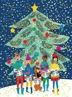 Christmas Carolers Large Embellished Holiday Notecards by Galison 9780735344143