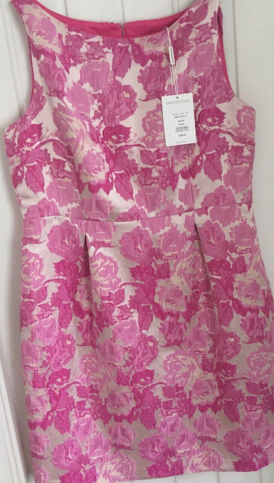 Gamme Gina Bacconi Robe UK 18 NEUF ROSE & BLANC