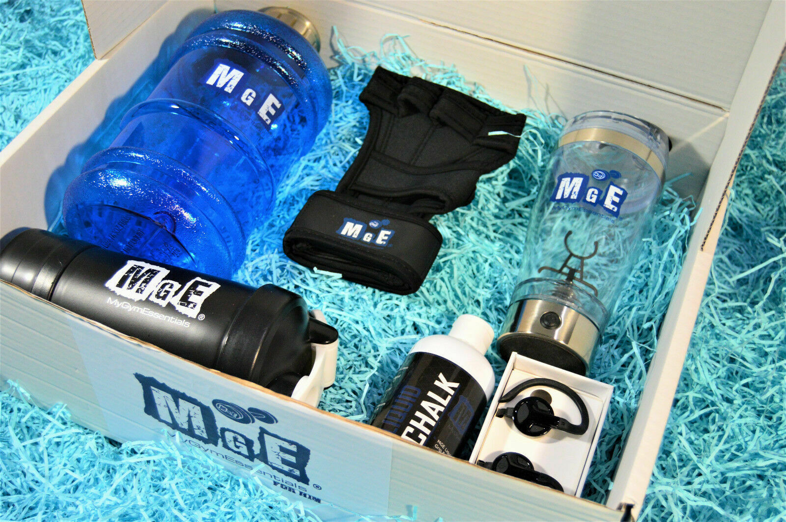 Gym Fitness Bundle Gift Box - Sports, Weight Lifiting, Training (MGE) - FOR HIM