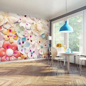 VLIES FOTOTAPETE 3D optik Blumen Pastell TAPETE Kinderzimmer ...