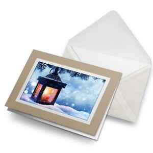 Greetings-Card-Biege-Festive-Lantern-Traditional-Christmas-16993