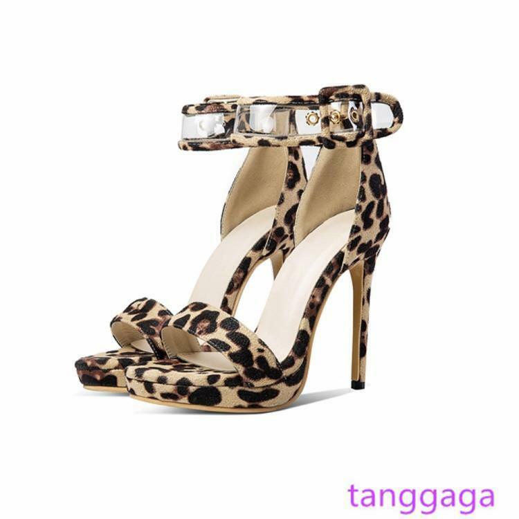 Femmes Talons Aiguilles Sandale Daim Talons Hauts Party Femmes Escarpins Chaussures Taille Plus 14