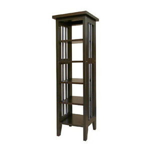 Mission-Style-Espresso-Color-Shelf-or-Plant-Stand-Free-Shipping