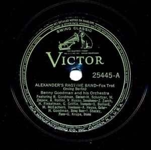 BENNY GOODMAN and his Orchestra on 1936 Victor 25445 - Alexander's Ragtime Band