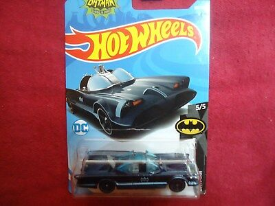 2018 Hot Wheels BATMAN 5//5 TV Series Batmobile 307//365 Blue Version