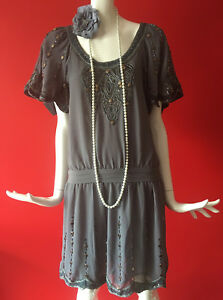 94f8493f699c Image is loading BNWT-Oasis-Vintage-Flapper-1920s-Gatsby-Charleston-Beaded-