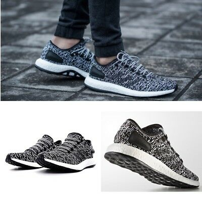 7d3613dd17788 Adidas Pure Boost Oreo Core Black Running Shoes BA8890 Men s Size 11.5