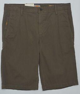 8bd91dc74 Men's HUGO BOSS ORANGE Olive (Green Brown) Twill Shorts 40 NWT NEW ...