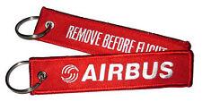 REMOVE BEFORE FLIGHT Airbus rot Schlüsselanhänger Keyring red Logo 12cm lang