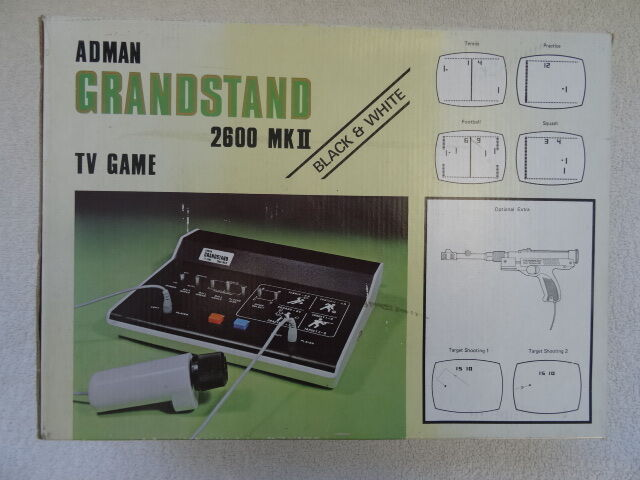 Adman Grandstand 2600 MkII. Vintage Electronics Game 1970's. Tennis,Squash,Footb