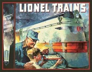 "Lionel 1935 Cover Vintage Retro Tin Metal Sign 16""Wx12.5""H"