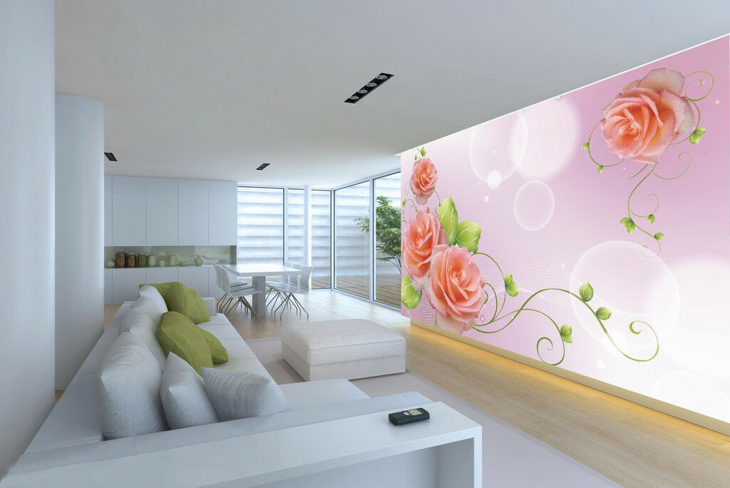 3D Beautiful pinks 7 Wall Paper Murals Wall Print Wall Wallpaper Mural AU Summer