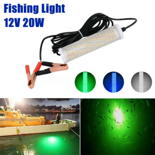 12V LED Underwater Deep Drop Fishing Light Submersible Night Fishing Finder  D