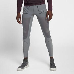 Nike-NikeLab-Gyakusou-Men-039-s-Utility-Tights-Grey-Light-Orewood-Brown-S-XL