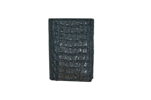 Trifold RFID Wallet Genuine Leather Crocodile Print MADE IN THE USA