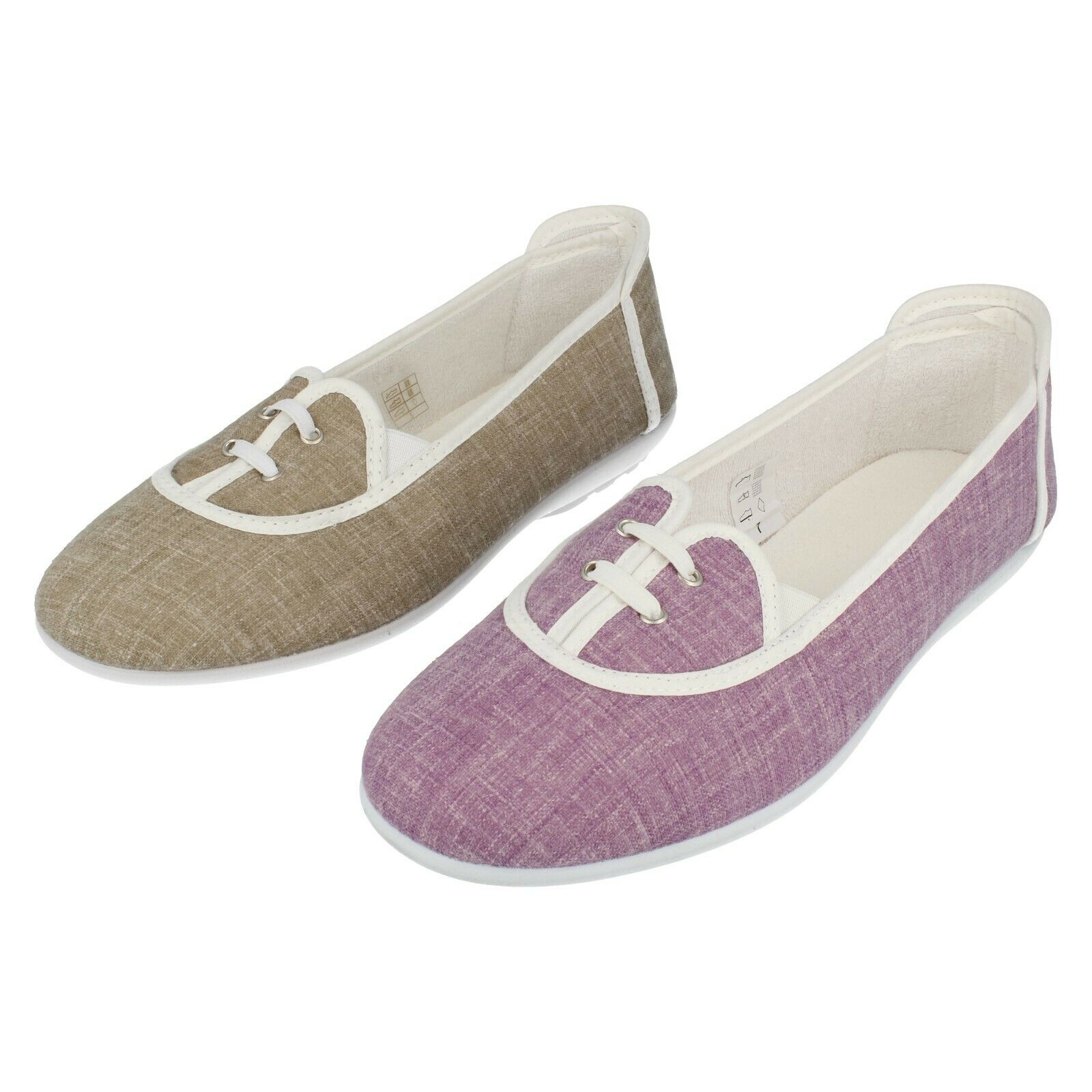 Ladies  Easy B Light Weight Casual Slip On Summer Canvas shoes  Parsley