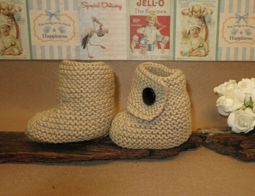 Traditional Baby Booties 0-2 Years